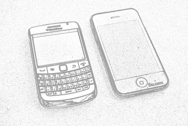 LA FIEBRE APPLE // Cara a cara con la Blackberry